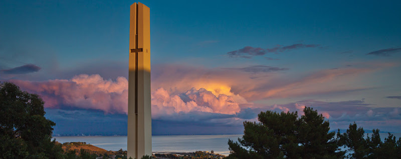 Pepperdine theme tower view