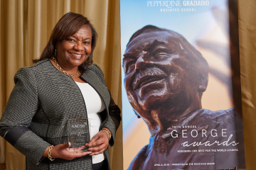 Britta Wilson at George Awards ceremony in Santa Monica