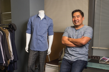 Michael Lin in his fashion house