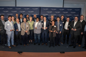 Photo of winners standing together at Most Fundable Companies event