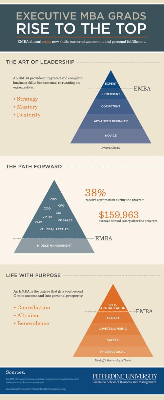 Executive MBA program infographic