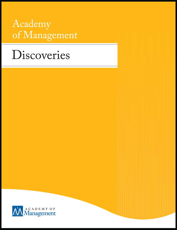 Academy of Management Discoveries journal cover