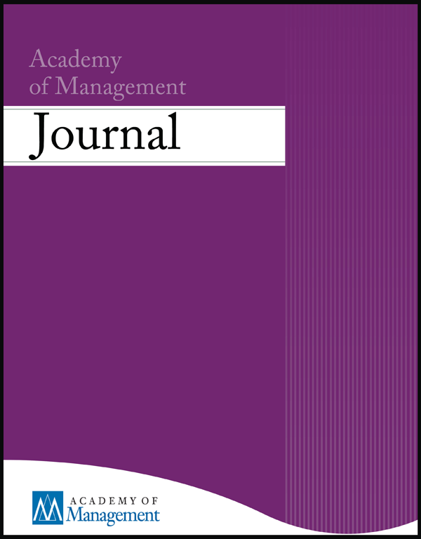 Academy of Management journal cover
