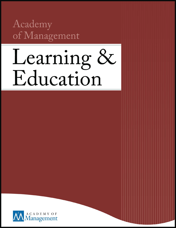 Academy of Management Learning and Education journal cover
