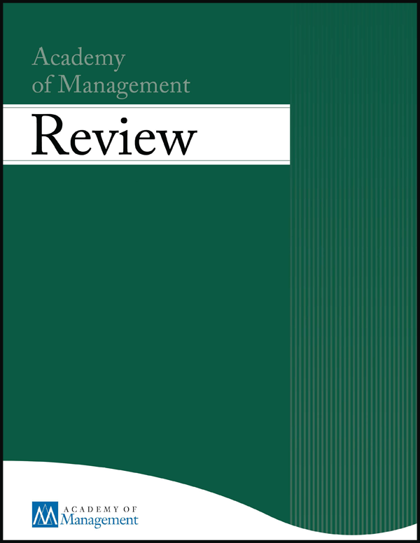 Academy of Management Review journal cover