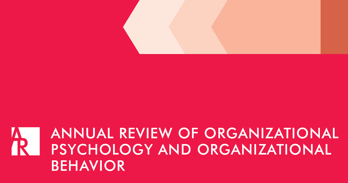 Annual Review of Organizational Psychology and Organizational Behavior journal cover