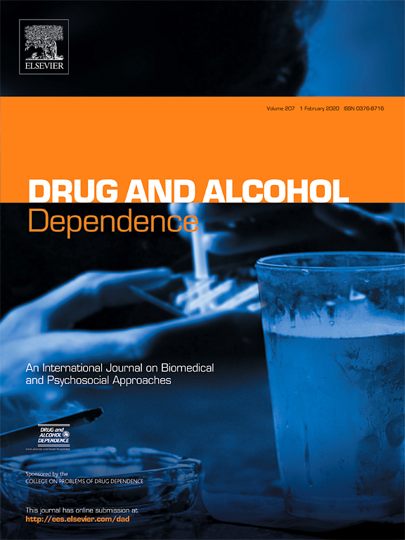 Drug and Alcohol Dependence journal cover