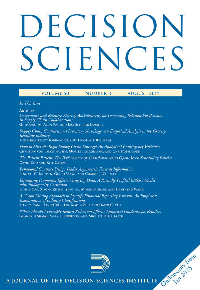 Decision Sciences journal cover