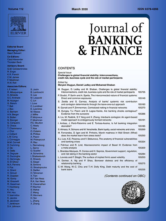 Journal of Banking and Finance journal cover