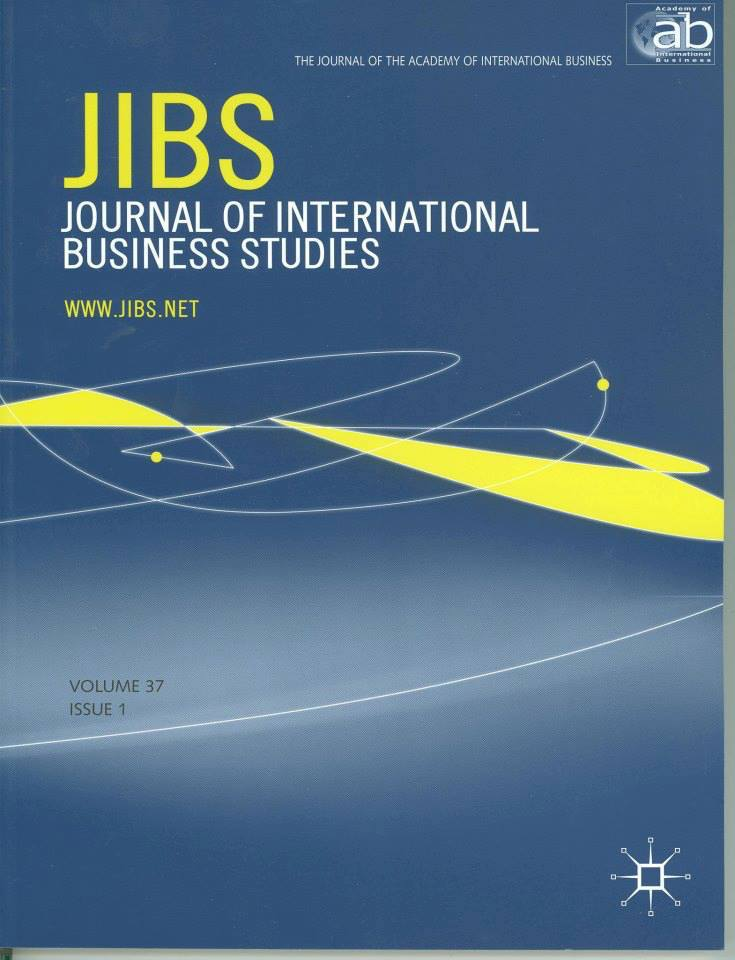 Journal of International Business Studies journal cover