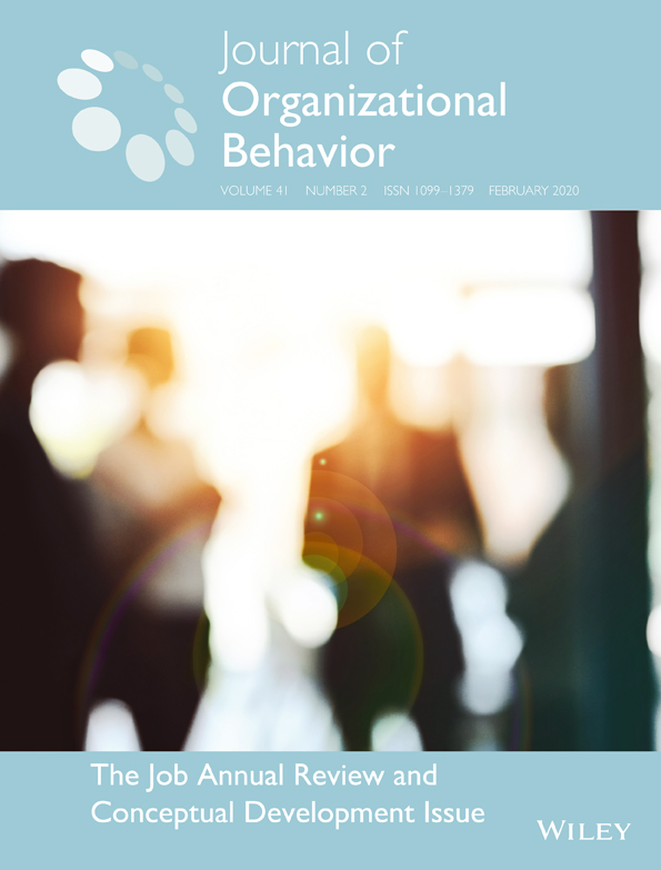 Journal of Organizational Behavior journal cover