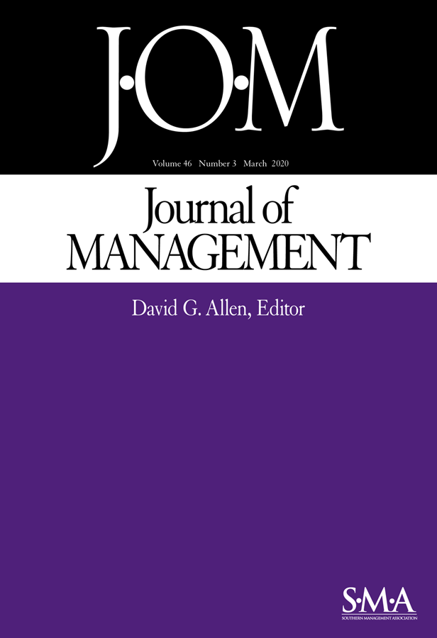 Journal of Management journal cover