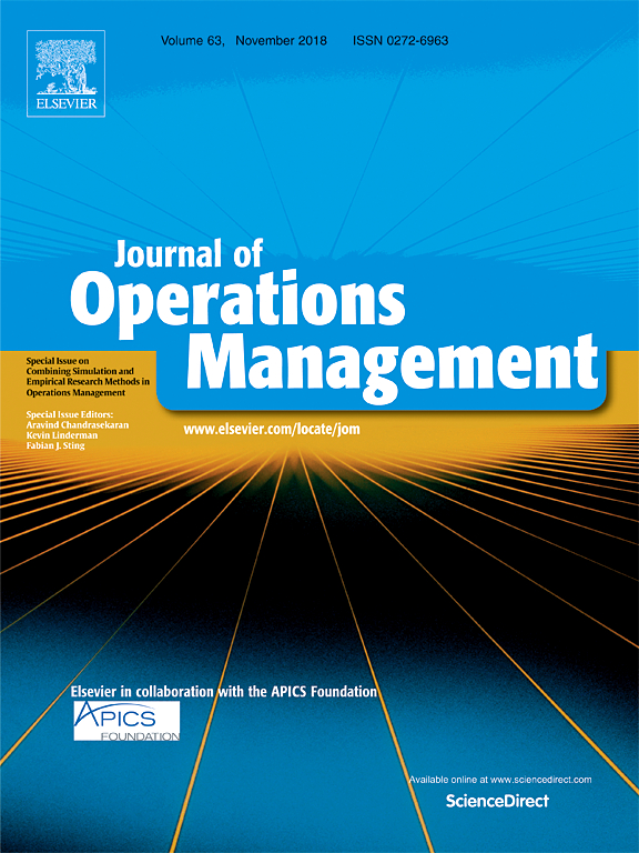 Journal of Operations Management journal cover