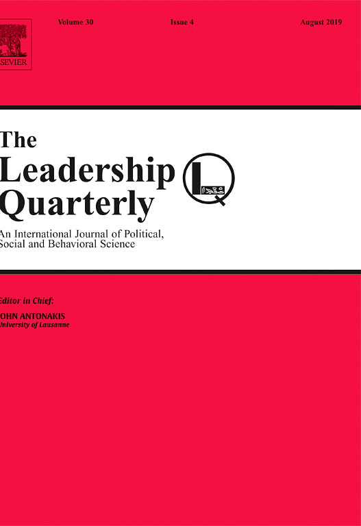 The Leadership Quarterly journal cover