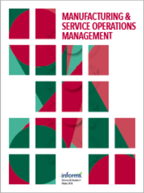 Manufacturing and Service Operations Management journal cover