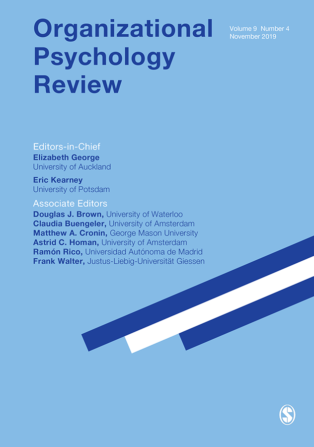 Organizational Psychology Review journal cover