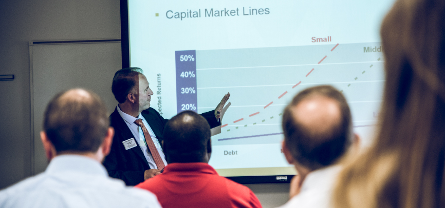 Dr. Craig Everett teaching finance in Executive Education program