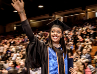 A female student graduated from GSBM - Pepperdine University