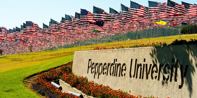 Flags at Pepperdine University