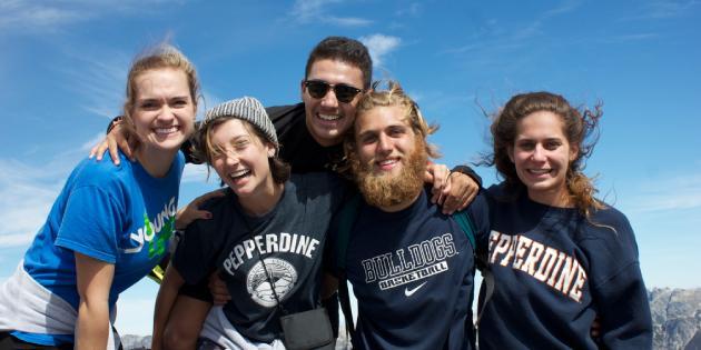 Students on global programs trip