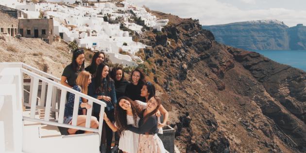 Students on mountain