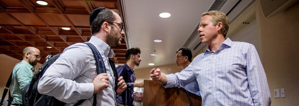 Real Estate Institute individuals chatting