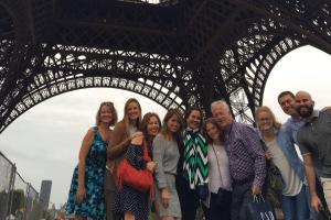 Group under Eiffel Tower