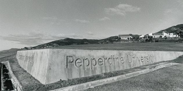 Pepperdine University sign