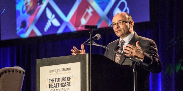 John Figueroa speaking during the Pepperdine Graziadio Business School Healthcare Symposium
