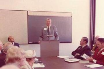 Dr. Sime becomes the full-time dean of the school of business (1969-1978).