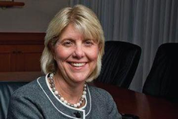 Linda A. Livingstone, PhD is named dean of the business school (2002-2014)