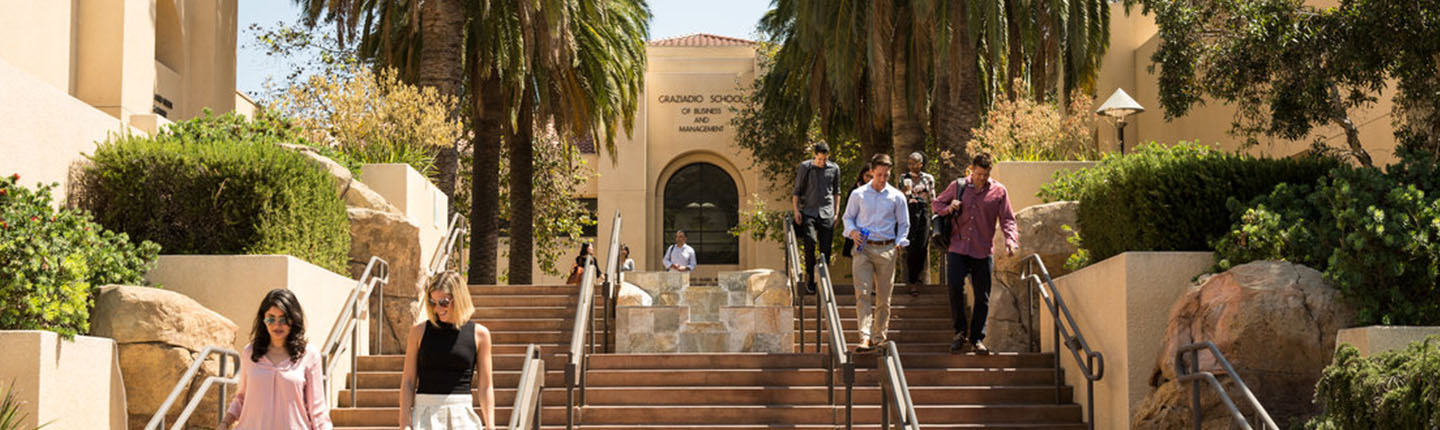 MBA students on Malibu campus
