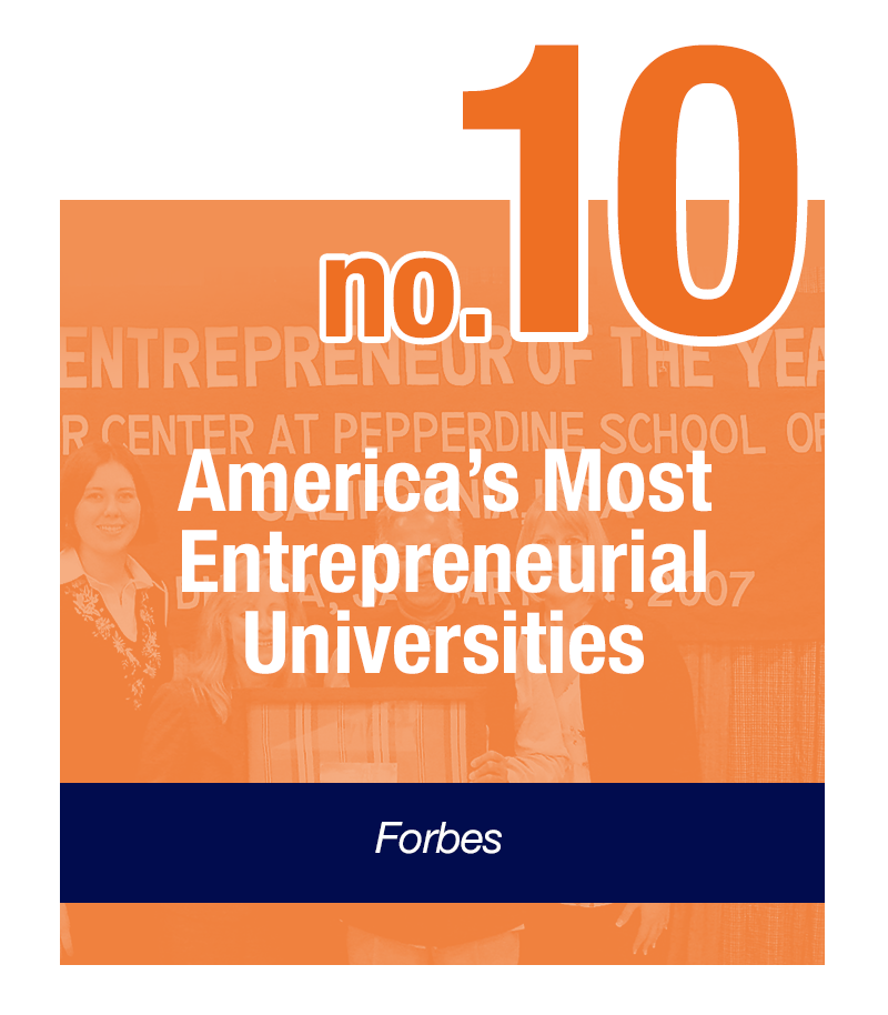 Pepperdine - Ranked 9th Most Entrepreneurial by Forbes